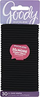 Goody Women's Ouchless Braided Elastics, Black, 30 CT, (Pack of 3)