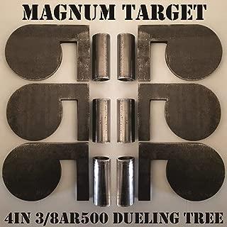 """4"""" x 3/8"""" AR500 Steel Shooting Range Targets Dueling Trees Metal Paddles w/Tubes"""
