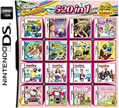 BeeShop(TM) 520 in 1 Game Cartridge for NDS NDSL 2DS 3DS NDSI Video Game Naruto All System