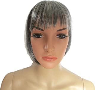 New Style Clip In Super Fringe Bang Hairpiece (181 SAlt Pepper Grey)