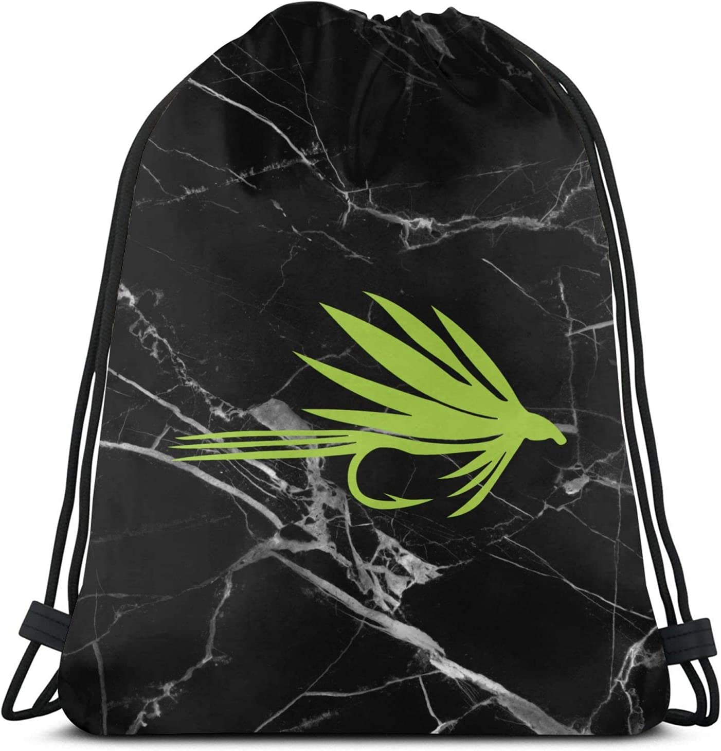 Sale Fly Fishing Drawstring Backpack for Gym Sports Swim B Beach OFFicial