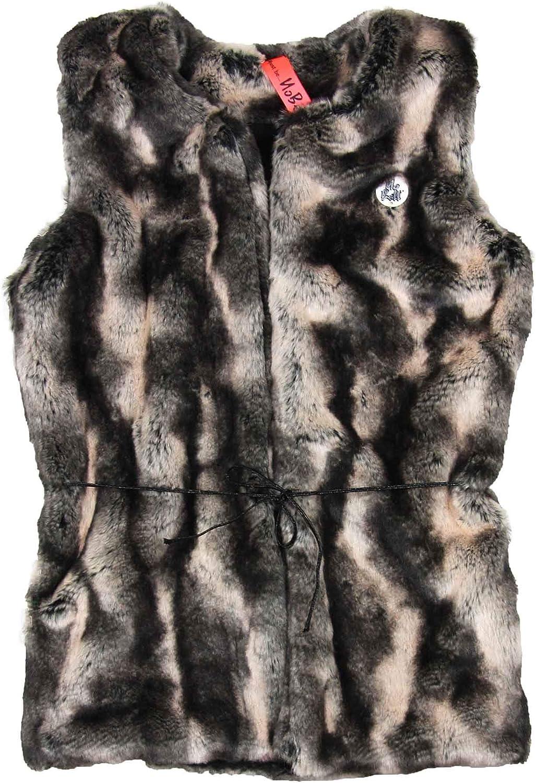 NoBell Junior Girl's Fake Fur Long Gilet, Sizes 10-16