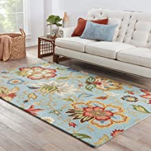 Jaipur Rugs Transitional Blue 5X8 Feet Wool Floral Rug and Carpet