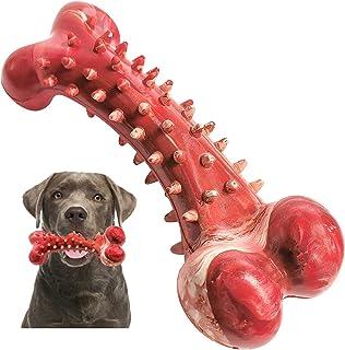 اسباب بازی سگ برای Chewers تهاجمی نژاد بزرگ ، V-HANVER لاستیک استخوان سگ اسباب بازی سگ با دوام و ماندگار طولانی مدت برای سگهای بزرگ متوسط ، تمیز کردن دندانهای سگ اسباب بازی مسواک سگ ، طعم گوشت گاو ، قرمز