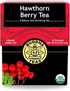 Organic Hawthorn Berry Tea – 18 Bleach-Free Tea Bags – Caffeine-Free Tea with an Herbal Flavor and Digestion Aiding Proper...