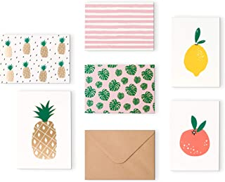 """Outshine 48 Blank Greeting Note Cards with Envelopes in Cute Storage Box (6 Designs) 