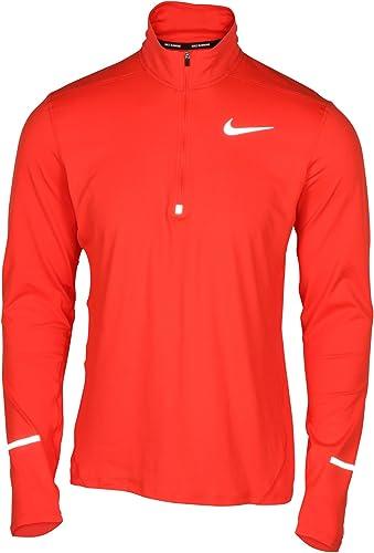 Nike 504606 - Langarm EleHommest T- T-Shirt à hommeches longues 1 2 zip ,Homme