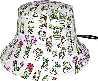 Lsjuee - Cappello da sole con cactus anime, per bambini, traspirante, estivo, colore: nero