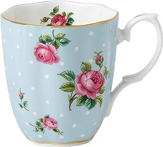 Royal Albert Polka Vintage Mug, Mostly Blue with Multicolored Print