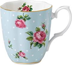 Royal Albert POLBLU26729 Polka Vintage Mug, Mostly Blue with Multicolored Print 13.5 ounce