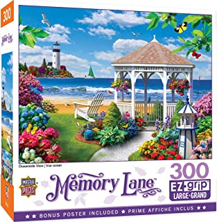 MasterPieces Memory Lane Puzzles Collection - Oceanside View 300 Piece EZ Grip Jigsaw Puzzle