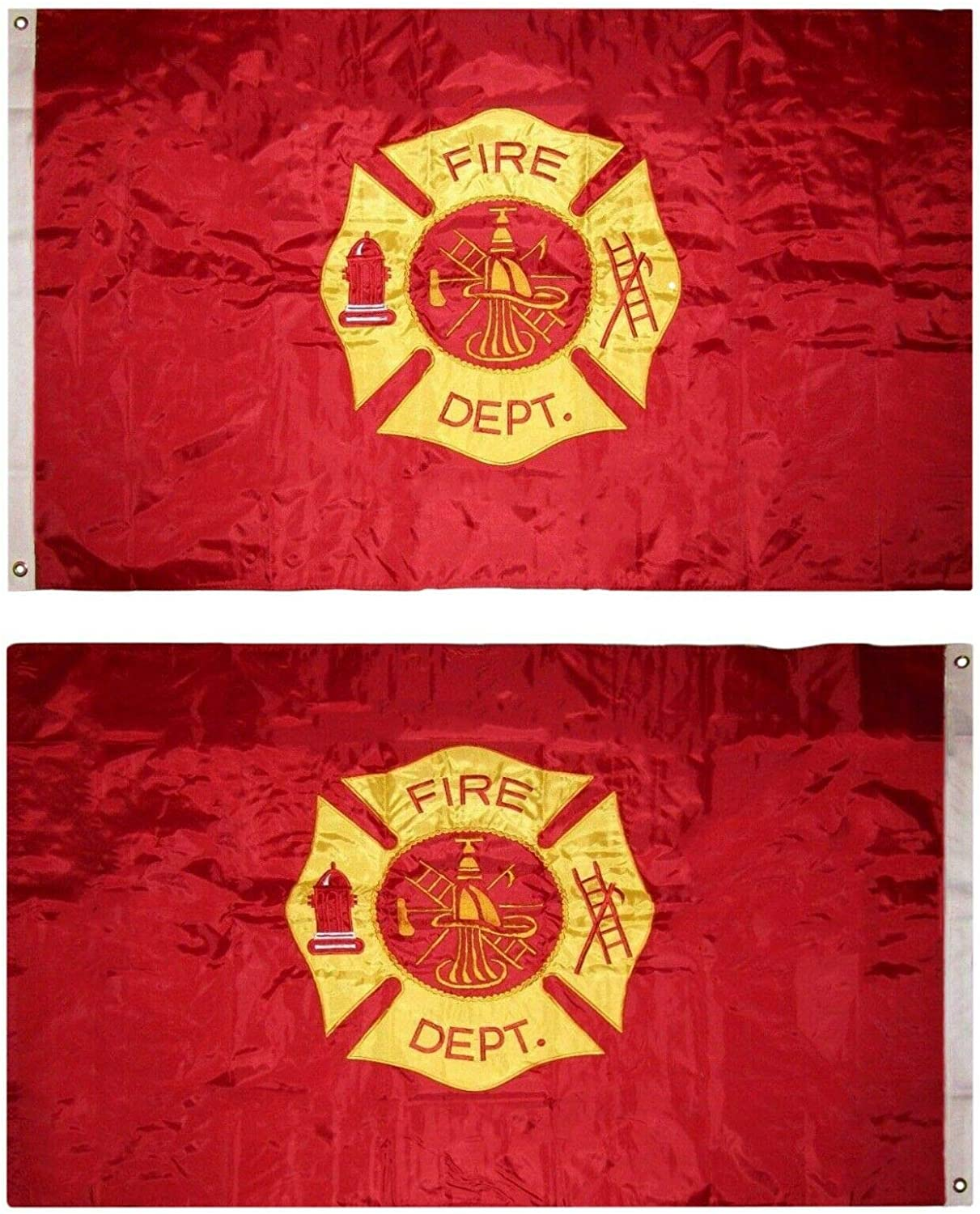 Zenda 3x5 Embroidered Fire Sided Long-awaited Double New arrival Fighter Department