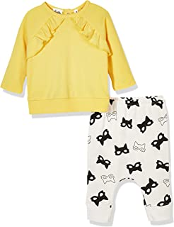 Silly Apples Baby Toddler Girls Fall Outfit 2-Piece Ruffle T-Shirt and Pant Set