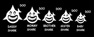 Maple Enterprise Baby Shark Doo Doo Mommy Daddy Brother Sister and Baby Shark Family Vinyl Decal Sticker for Car Laptop Wall Room Decoration 12