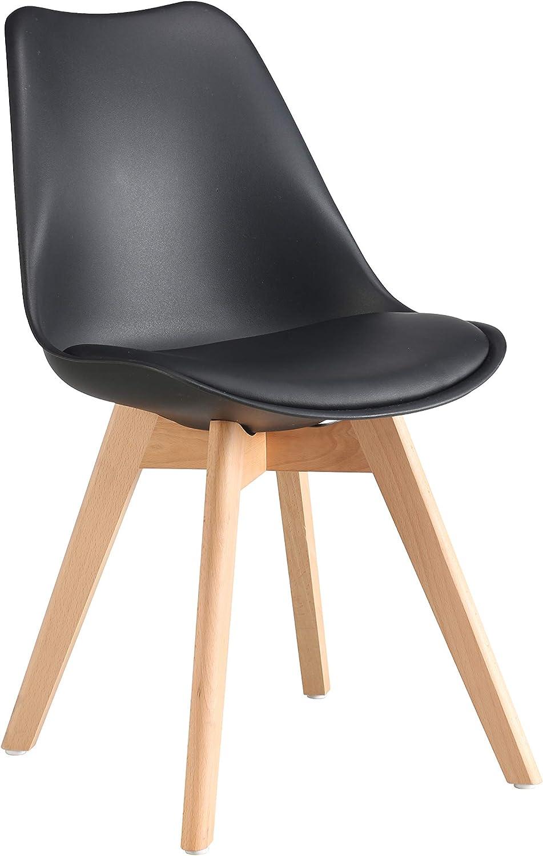 Aryana Home Lot de 2 chaises Nordiques Scandi Noir