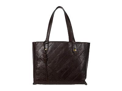 Frye Melissa Flag Tote (Dark Brown) Handbags