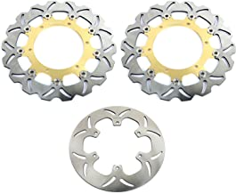 TARAZON Front Rear Brake Disc Rotors for Yamaha V-Max VMX1200 93-07 XVS1100 V-star Classic Silverado 03-09