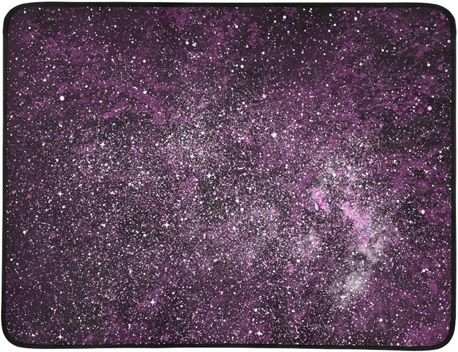Cosmos Starry Sky Portable and Foldable Blanket Mat 60x78 Inch Handy Mat for Camping Picnic Beach Indoor Outdoor Travel