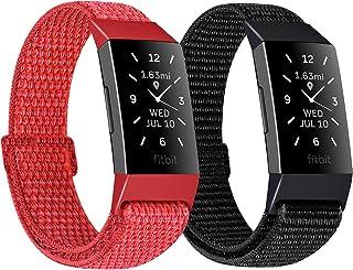 سوار ساعة يد نايلون من Unnite متوافق مع Fitbit Charge 4/Fitbit Charge 3/Charge 3 SE / Charge 4 Special Edition ، حزام رياض...