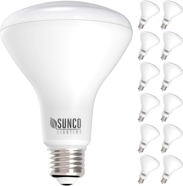 Sunco Rapid rise Lighting 12 Pack BR30 LED De Daylight Popular popular Bulb 6000K 11W=65W