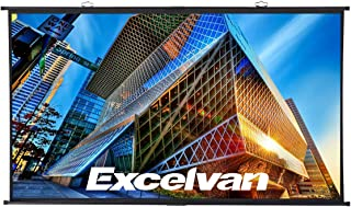 Projector Screen Excelvan 100 Inch 120 Inch with Stand Portable Electric HD Movie Projector Screen Motorized 3D Wall TV Projector Screen (120