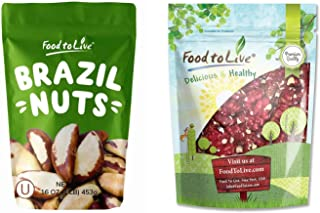 Raw Nuts Bundle - Raw Brazil Nuts, 1 Pound and California Red Walnuts, 1 Pound - Raw, No Shell, Kosher, Unsalted, Natural,...