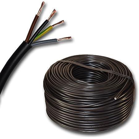 Kunststoff Schlauchleitung Rund Led Kabel Leitung Gerätekabel H03vv F 4x0 75 Mm Mm2 4g0 75 Farbe Schwarz 10m 15m 20m 25m 30m 35m 40m 45m 50m 55m 60m Usw Bis 250 M In 5 Meter Schritten Baumarkt