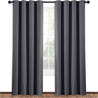 NICETOWN Blackout Blind Curtain Window Treatment - (Gray/Grey Color) Thermal Insulated Drape Shade with Grommet for Slidin...