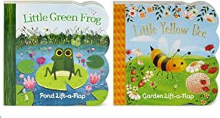 2 Pack Chunky Lift a Flap Board Books - Little Yellow Bee and Little Green Frog