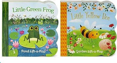 Pack Chunky Lift-a-Flap Board Books: Little Yellow Bee/Little Green Frog Lift-a-Flap Books (Babies Love)