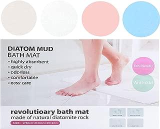 LodeStar Diatomaceous Earth Bath Mat, Non Slip Mats Absorbent Fast Drying Bathroom Shower Floor Mat (Ivory) 23.6 x 15.4 x 0.35 Inch