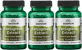Swanson Fenugreek Extract - Featuring Testofen 300 mg 60 Veg Caps 3 Pack