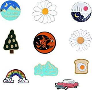 10 PCS Natural Scenery Enamel Pin Set for Jewelry DIY Accessories