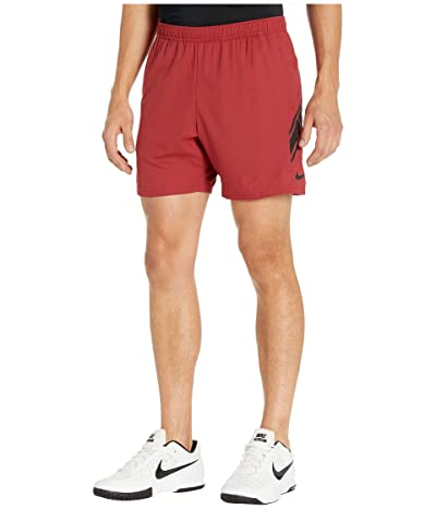Nike NikeCourt Dry Shorts 7 (Team Crimson/Black/Black) Men