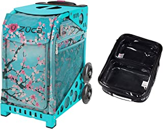 Zuca Sport Bag - Hanami with Gift One Large and Two Mini Utility Pouches (Turquoise Frame)