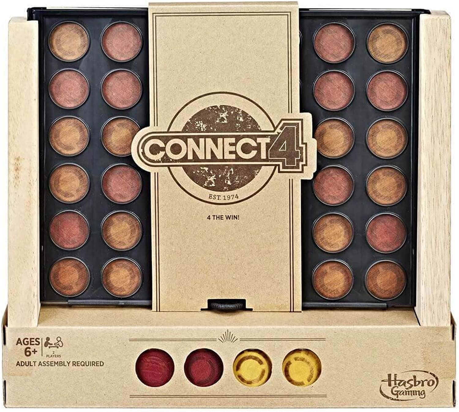 Connect 4 Rustic Board Game