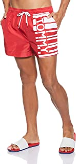 Tommy Hilfiger Men's Swimwear Shorts, Red (Tango Red), Large