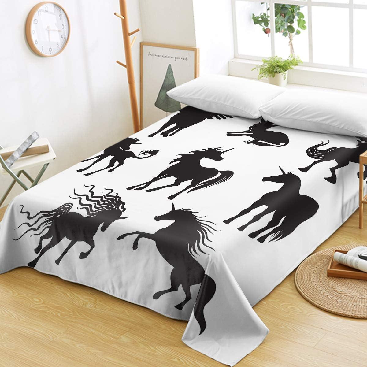 Sleepwish Cartoon Unicorn Super special price Weekly update Flat Sheet Dreamy Printed Animal Cute