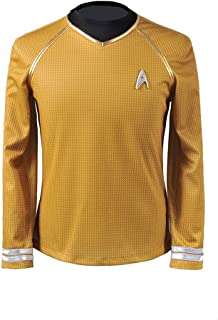 Into Darkness Yellow Captain Man's Cosplay T-shrit