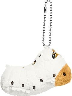 ちたまっこ カイコ ぬいぐるみキーホルダー 全長9cm ホワイト