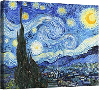 Eliteart-- Starry Night By Vincent Van Gogh Oil Painting Reproduction Giclee Wall Art Canvas Prints