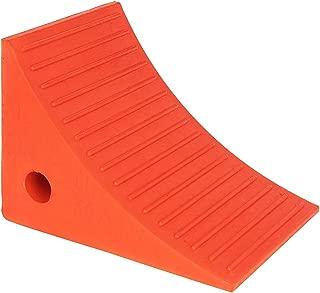 Roadblock UC1700 Impact-Absorbing Urethane Industrial Wheel Chock, Orange, 8.5
