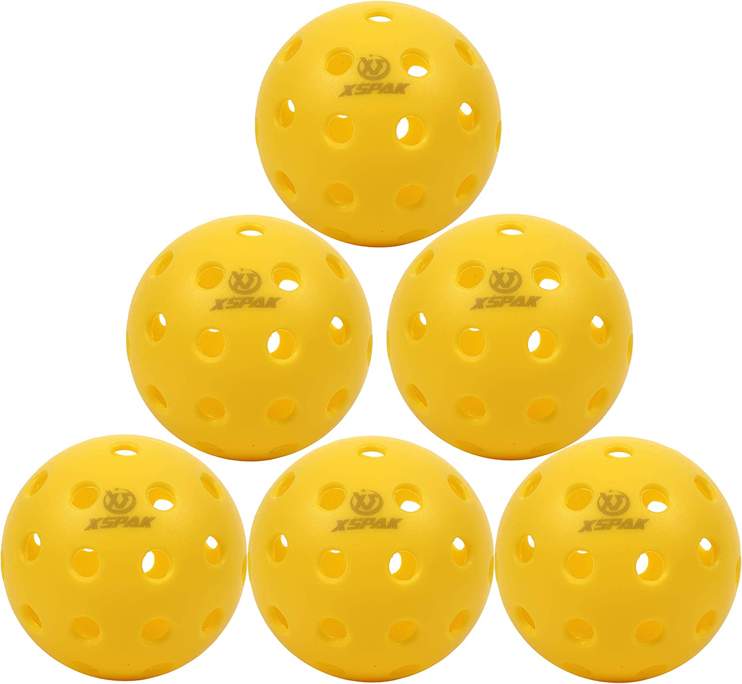 High Elasticity Outdoor Pickleballs Ideal for Pickleball Outdoor /&Indoor Play ARESH 40 Holes Durable Pickleball Balls Set Yellow/&12 Pack