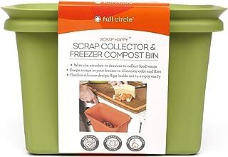 Full Circle Scrap Happy Scrap Collector and Freezer Compost Bin, Orange
