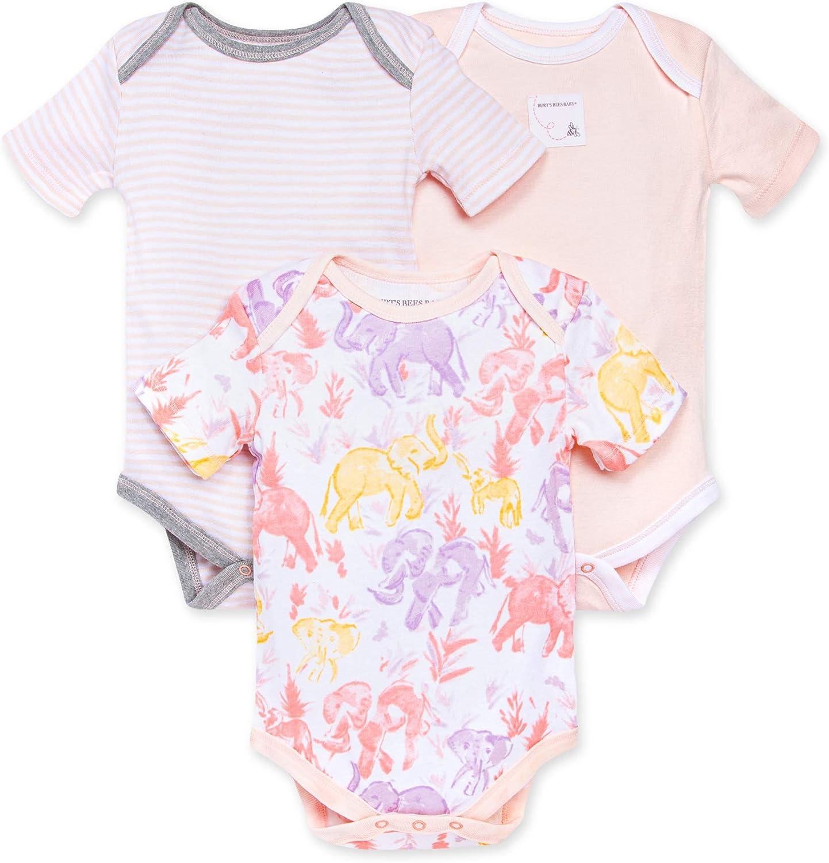 Financial sales sale Burt's Bees Baby Bodysuits Long 3-Pack One- Short-Sleeve Regular discount