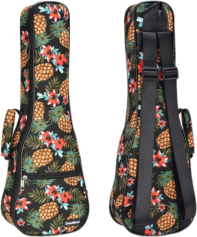 Popular products Popular brand in the world CLOUDMUSIC Ukulele Case Pineapple Backpack 10mm Padding