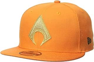 New Era Cap Young Men's Aquaman Perf Trick 9FIFTY Snapback Cap Hat, Orange, One Size