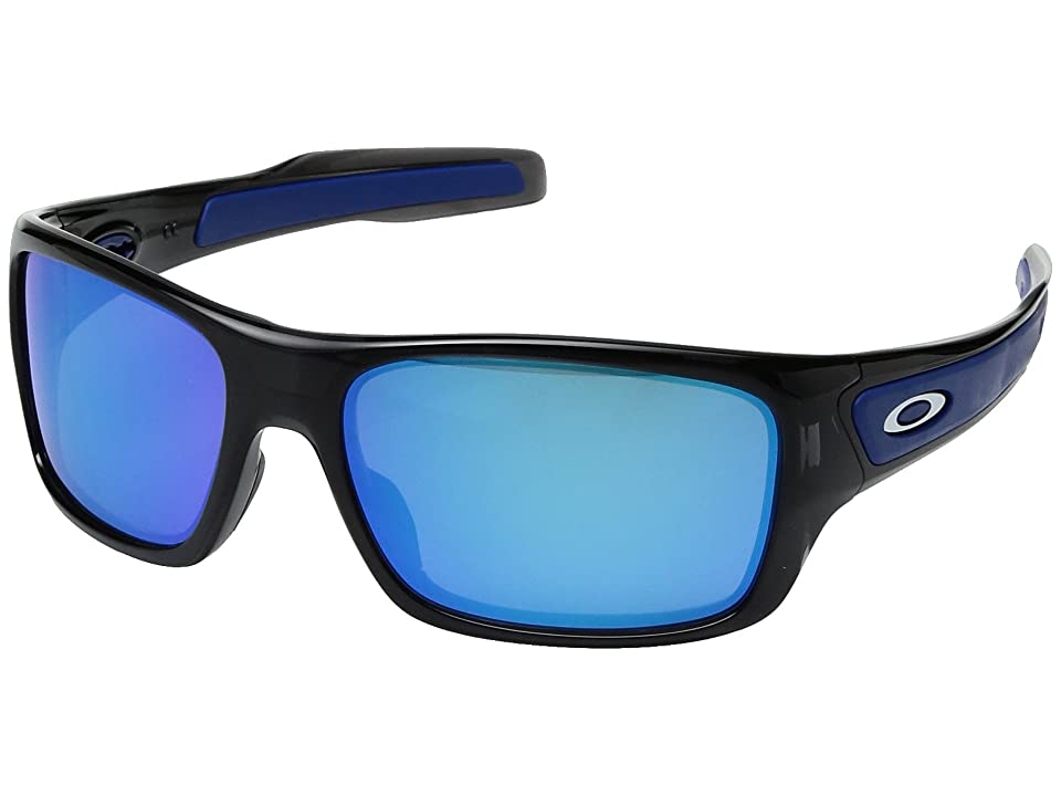 Oakley Turbine XS (Black Ink w/ Sapphire Iridium) Fashion Sunglasses