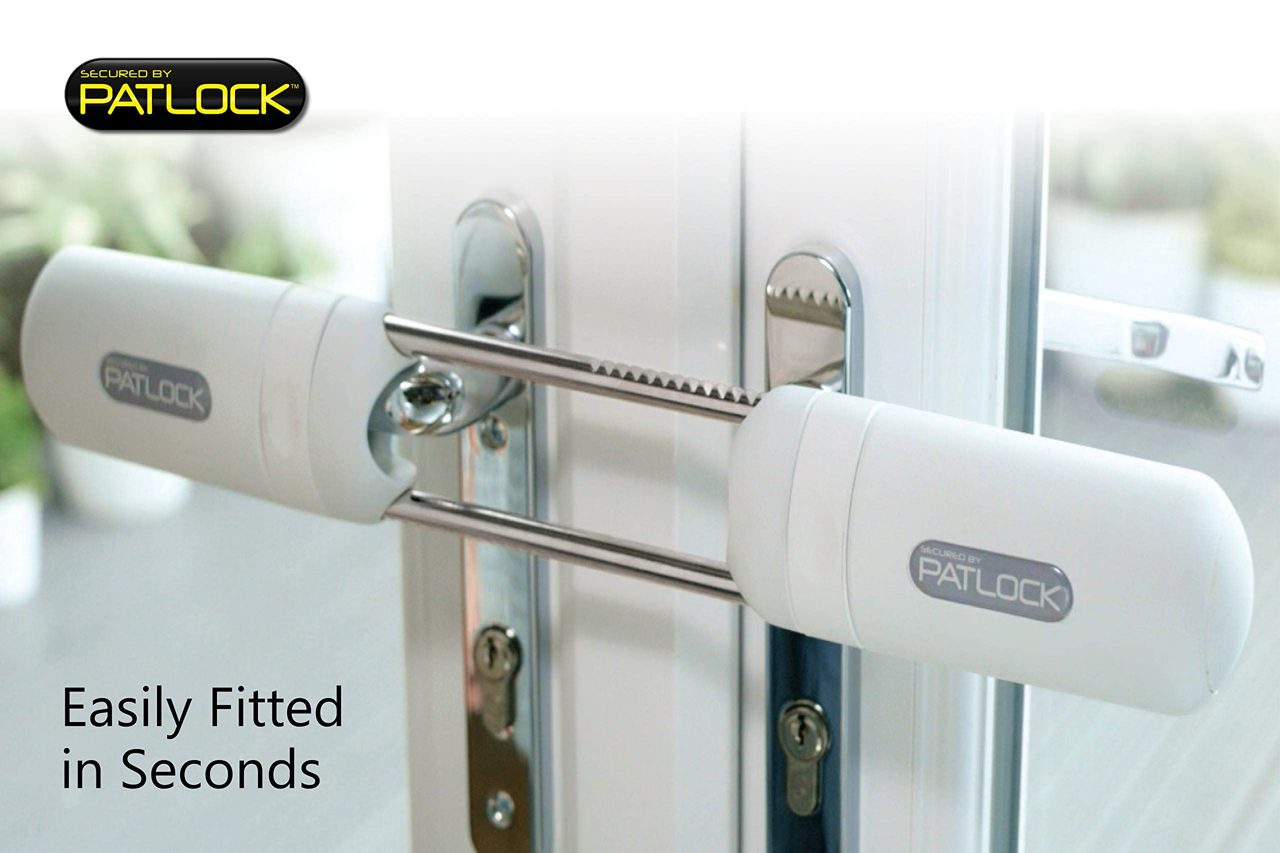 Patlock Security Lock For French Doors Straight Handle Security Solution Amazon Com