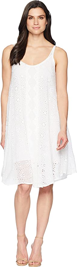 Mixed Eyelet Dress